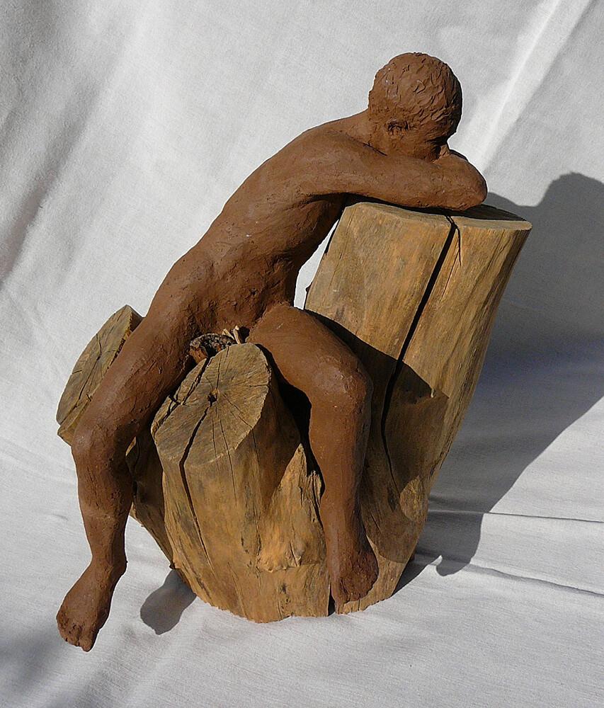 Méditation (homme sur arbre)