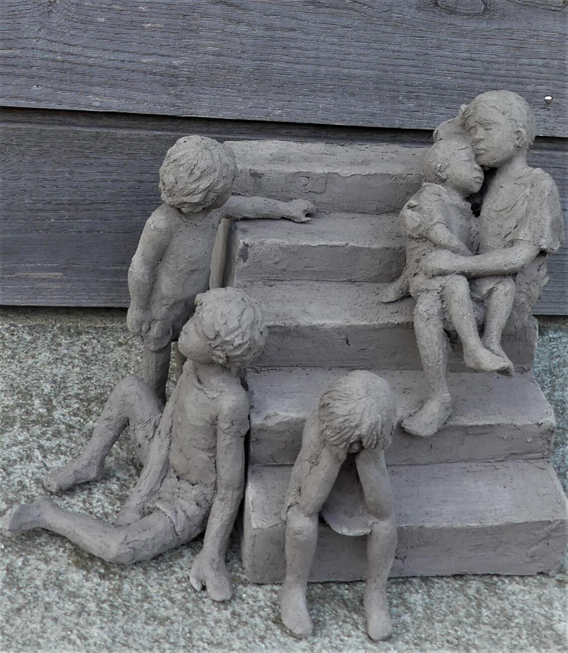 Enfants des rues / l'escalier (Manille 2)